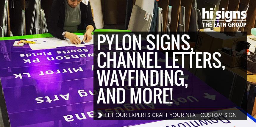 pylon signs, channel letters hi signs edmonton
