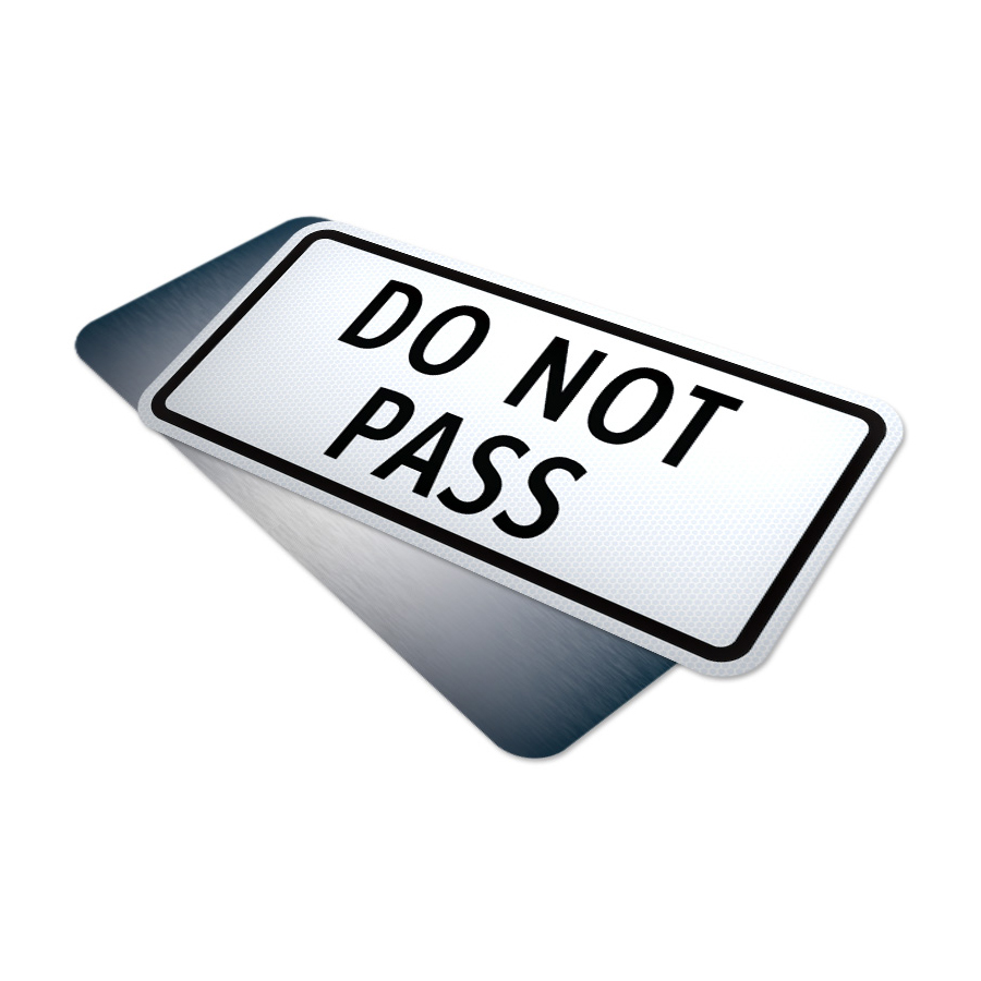 do not pass tab traffic supply 310sign