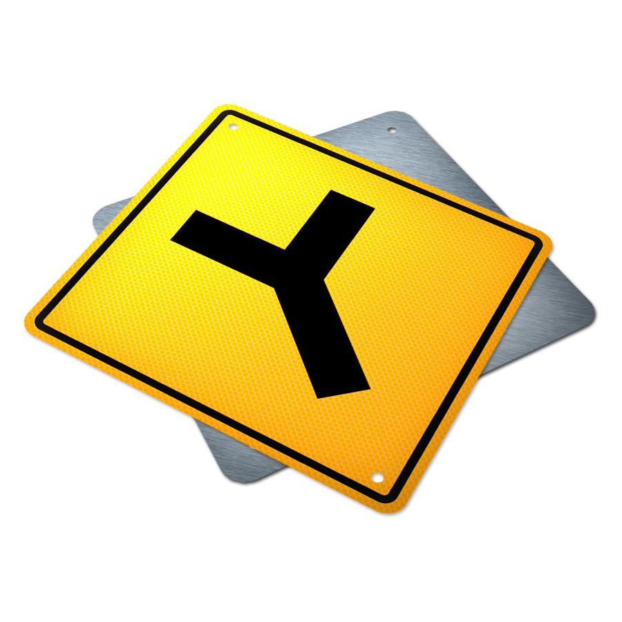 Y Intersection Y Intersection Sign | ...