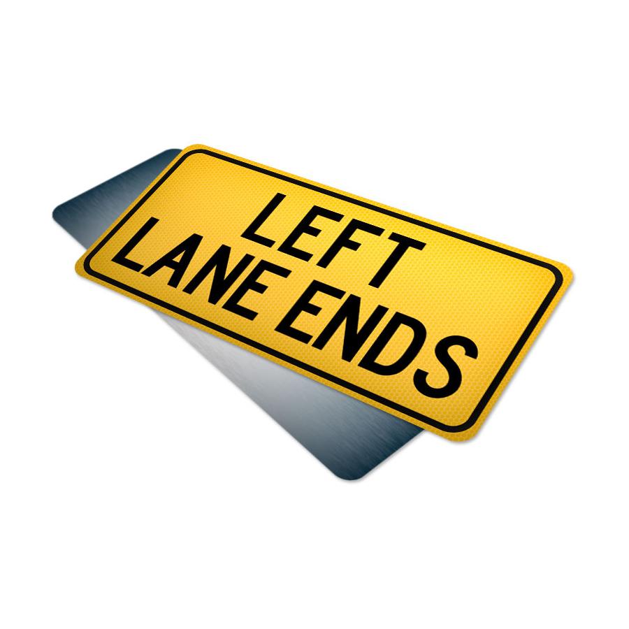 left lane ends tab traffic supply 310sign