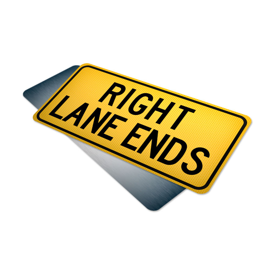 right lane ends tab traffic supply 310sign