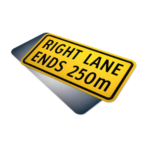 right lane ends 250m tab traffic supply 310sign